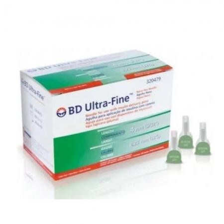 AGULHA ULTRA FINE 4MM X 0,23 MM (C/10) - BD