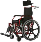 Cadeira de Rodas Aluminio 40cm Fit Reclinável Vinho - BAXMANN E JAGUARIBE