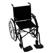 Cadeira de Rodas Taíba Pneu Maciço 44cm Preta - CARONE