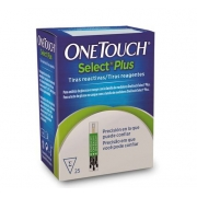 FITAS DE GLICEMIA ONE TOUCH SELECT PLUS (C/25) - JONHSON & JONHSON