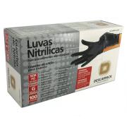 Luva de Procedimento Nitrílica Preta - DESCARPACK