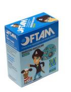 Protetor Ocular Oftam Divertido Masculino  Azul com Figuras Variadas (Cx c/ 20 Unds. ) - AMP