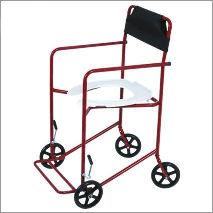 Cadeira de Rodas Higiênica Extra Vinho 40 cm - CARONE  - Shopping Prosaúde