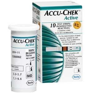 Fita de Glicemia  Accu Check Active caixa com 10 unidades - Roche  - SP