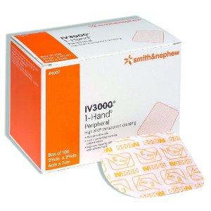 Curativo com permeabilidade controlada para cateteres und - IV 3000 6 x 7cm Ref 4007 - SMITH  - SP