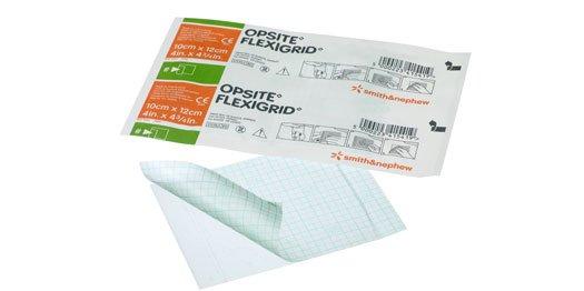 Curativo de filme transparente - Opsite Flexigrid - 10 x 12 cm - SMITH & NEPHEW  - SP
