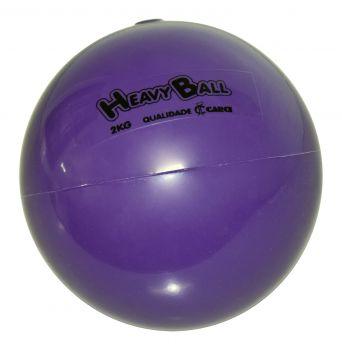 Bola para Exercício de Ginástica Heavy Ball 2 kg BP 02 - CARCI  - Shopping Prosaúde