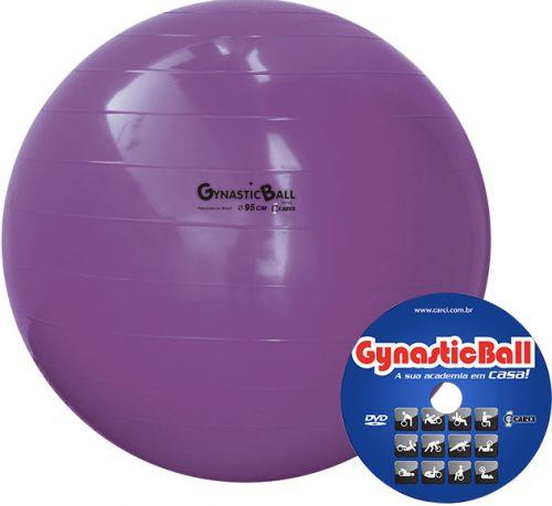 Bola Gynastic Ball com DVD de Exercícios 95 cm BL 01.95 - CARCI  - Shopping Prosaúde