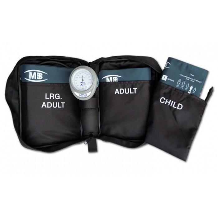 Aparelho de Pressão Aneróide Palm HT-1500 com 3 braçadeiras e Estojo - Nissei - Macrosul  - Shopping Prosaúde