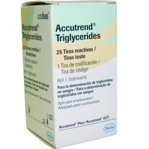 Fitas para Triglicérides cx c/25 Accutrend GCT ou Accutrend GC  - Roche  - SP