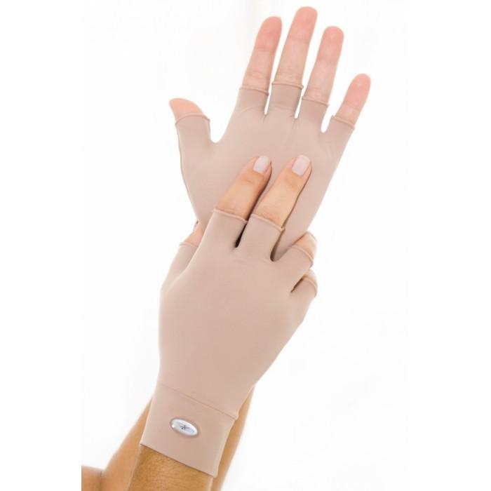 Luvas Com Proteção Solar Dedo Curto G/GG Bege 10313 - Harana