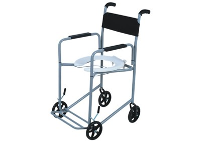 Cadeira de Rodas Higiênica II Cinza 40 cm - CARONE  - Shopping Prosaúde