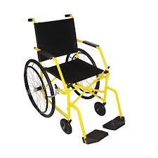 Cadeira de Rodas Taiba Pneu Maciço 44cm Amarela - CARONE  - Shopping Prosaúde