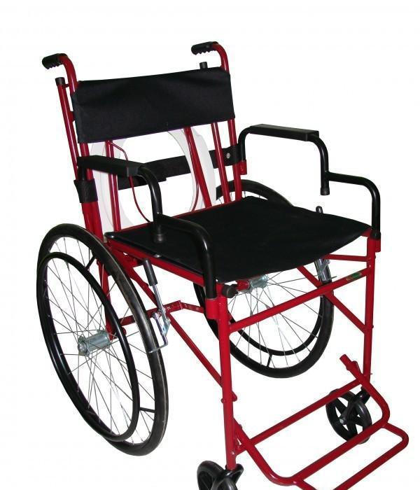 Cadeira de Rodas Versátil 44 cm Vinho - Carone  - Shopping Prosaúde