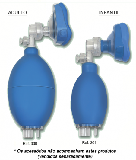 Reanimador Pulmonar Manual Tipo Ambu Missouri Infantil - Mikatos  - Shopping Prosaúde