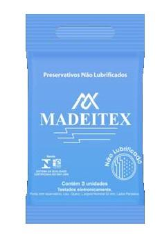 Preservativo não Lubrificado  Cx. c/144 - Madeitex  - Shopping Prosaúde