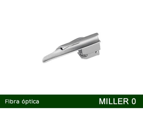 Lâmina de Laringoscópio Aço Inox Fibra Óptica Miller 0 - MD