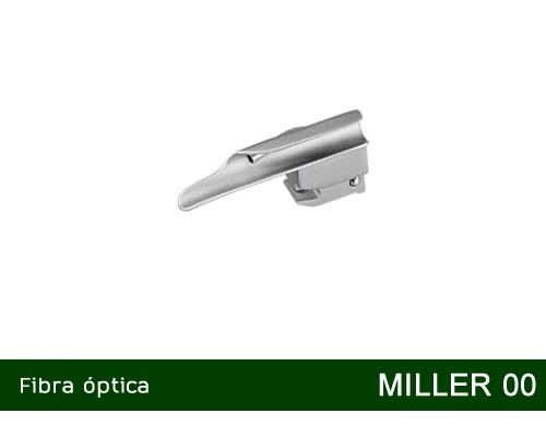 Lâmina de Laringoscópio Aço Inox Fibra Óptica Miller 00  - MD