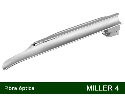 Lâmina de Laringoscópio Aço Inox Fibra Óptica Miller 4 - MD