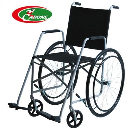 Cadeira de Rodas Taíba Pneu Maciço 44cm Prata - CARONE  - Shopping Prosaúde
