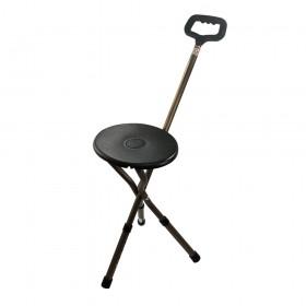 Bengala de Alumínio Altura Regulável com Assento Bronze - MacroLife  - Shopping Prosaúde