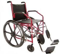 Cadeira de Rodas Aço Courvim Vinho Pneu Maciço 40 cm Ref. 1012 - BAXMANN E JAGUARIBE  - Shopping Prosaúde