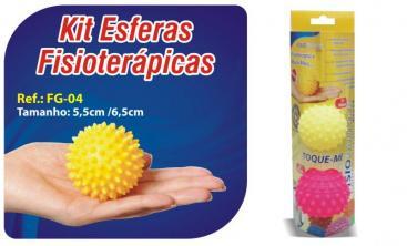 Kit Esferas Fisioterápicas 02 Unidades- Ref. FG-04- Ortho Pauher  - Shopping Prosaúde