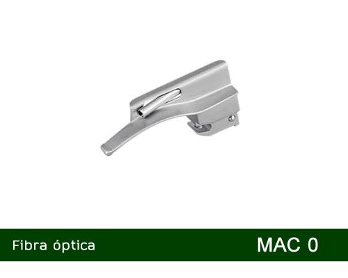 Lâmina de laringoscópio Aço Inox Fibra Óptica Macintosh 0 - MD