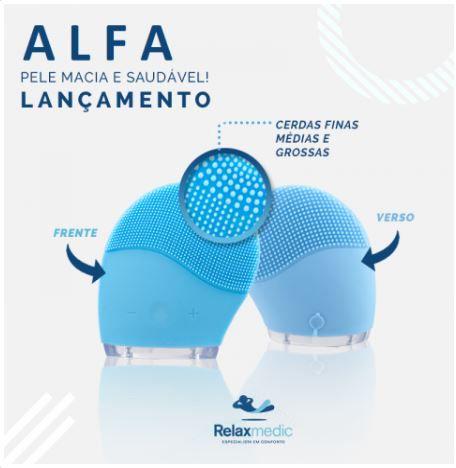ACESSÓRIO DE LIMPEZA FACIAL MASSAGEADOR ALFA - RELAXMEDIC