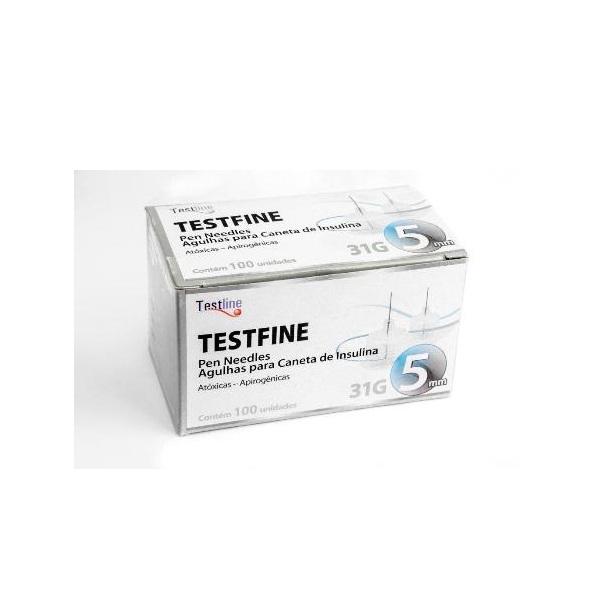 Agulhas para Caneta de Insulina Pen Needles 5mm x 31G - TESTFINE - Testline - Uniqmed  - SP