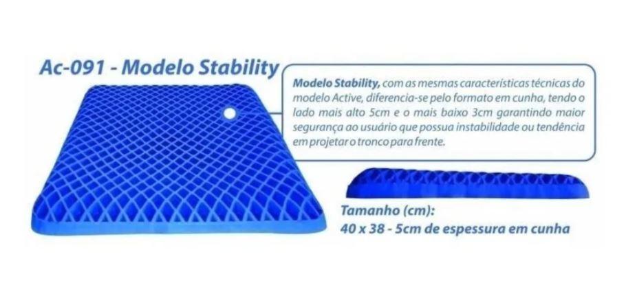 ALMOFADA ORTOPÉDICA COMFORT GEL STABILITY 40 x 38 x 5 cm AC-091 - ORTHO PAUHER