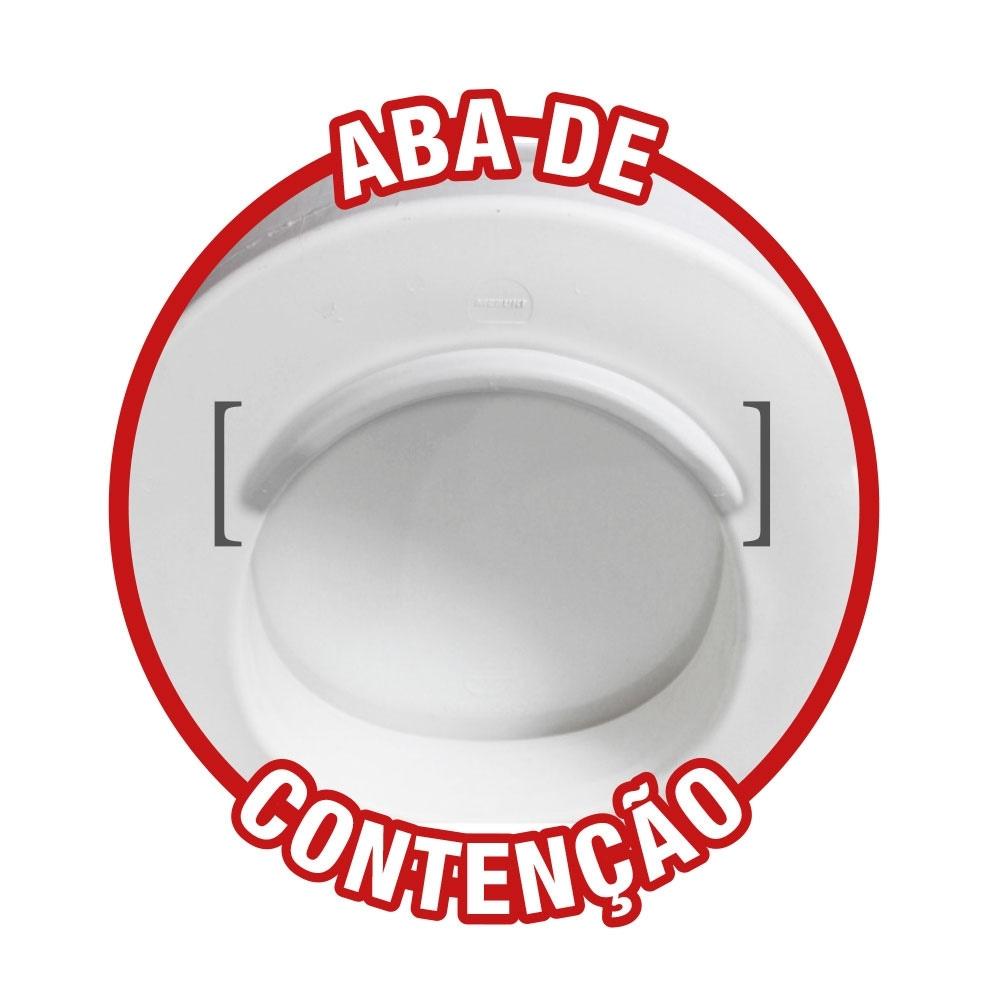 ASSENTO SANITÁRIO ELEVADO COM TAMPA 13,5CM - MEBUKI