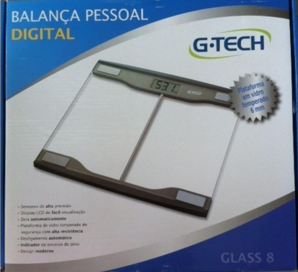 BALANÇA DIGITAL GLASS 8 - G-TECH