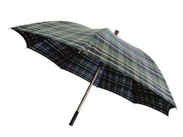 Bengala de Alumínio Tipo T Regulável com Guarda-Chuva Acoplado - Macrolife
