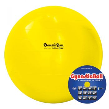 BOLA GYNASTIC BALL 45 CM BL 01.45 AMARELO - CARCI  - Shopping Prosaúde