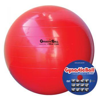 BOLA GYNASTIC BALL 55 CM BL 01.55 VERMELHA - CARCI  - Shopping Prosaúde