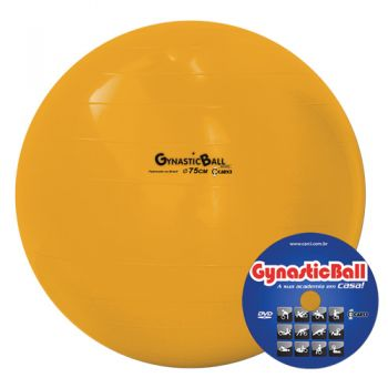 BOLA GYNASTIC BALL 75 CM BL 01.75 LARANJA - CARCI