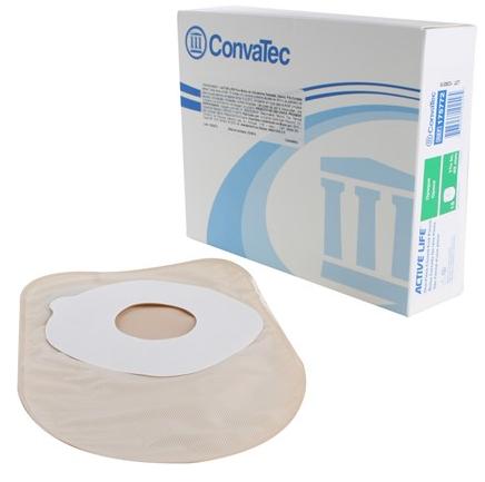 Bolsa de Colostomia Active-Life 1 Peça  Fechada Pré-Cortada Stomahesive  25mm Opaca Und. 175769 -  CONVATEC