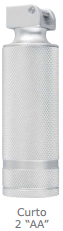 Cabo em Metal 2.5V para Laringoscópio Convencional Curto Tipo AA - MD