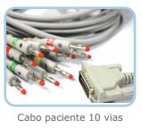 Cabo Paciente com 10 vias Tipo Banana para Eletrocardiógrafo  - BIONET