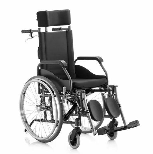 Cadeira de Rodas Aluminio 40cm Fit Reclinável Preta  - BAXMANN E JAGUARIBE  - Shopping Prosaúde