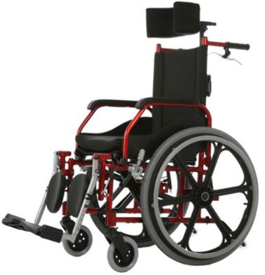 Cadeira de Rodas Aluminio 40cm Fit Reclinável Vinho - BAXMANN E JAGUARIBE  - Shopping Prosaúde