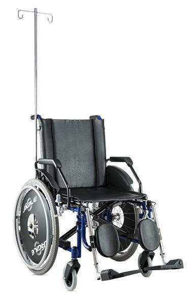 Cadeira de Rodas Alumínio Ágile Hospitalar 50cm - BAXMANN E JAGUARIBE  - Shopping Prosaúde