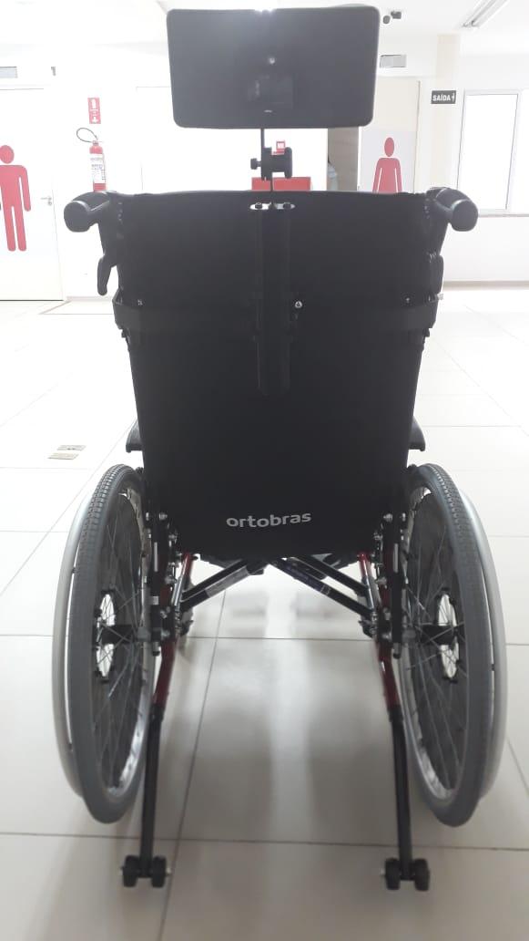 Cadeira de Rodas Alumínio AVD Reclinável 40 cm - ORTOBRAS  - Shopping Prosaúde