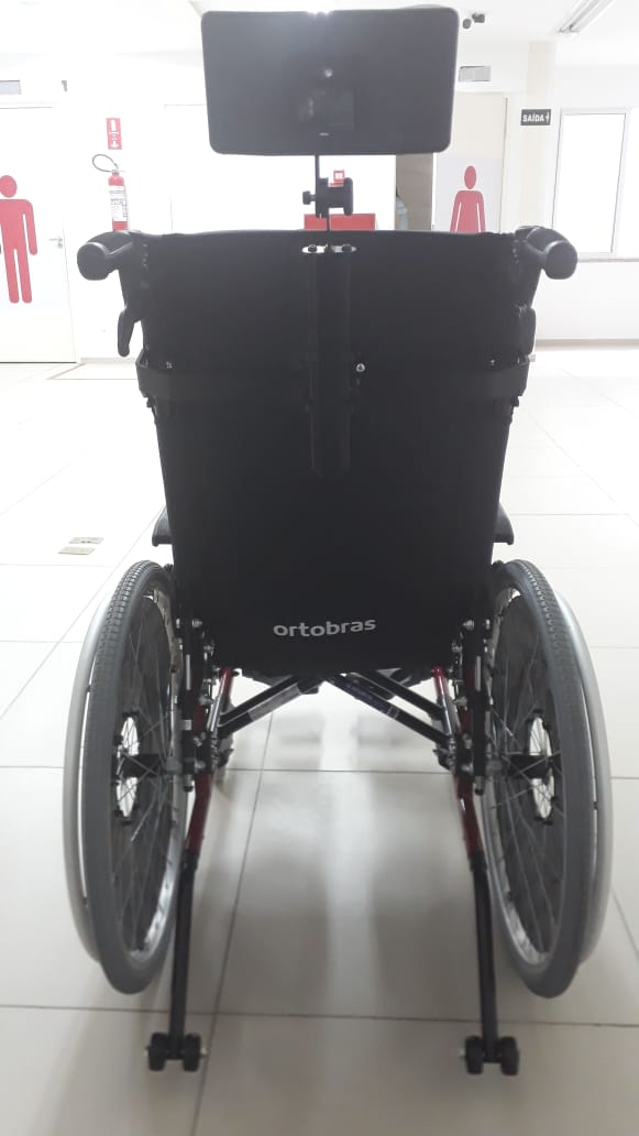 Cadeira de Rodas Alumínio AVD Reclinável 48 cm - ORTOBRAS  - Shopping Prosaúde