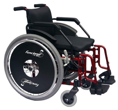 Cadeira de Rodas Alumínio Funcional Adulto 42cm - BAXMANN E JAGUARIBE  - Shopping Prosaúde