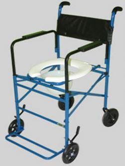 Cadeira de Rodas Taíba Pneu Inflável 44cm Azul - CARONE  - Shopping Prosaúde