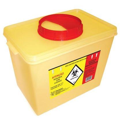 Caixa Coletora Perfurocortante Polipropileno Cap. 07 Litros Amarela - DESCARPACK