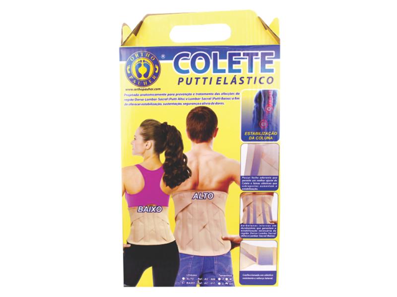 COLETE PUTTI ELÁSTICO ALTO (TAM.G) AC608 - ORTHO PAUHER  - Shopping Prosaúde