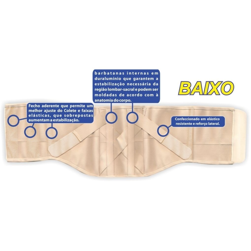 COLETE PUTTI ELÁSTICO BAIXO TAMANHO REF. AC617 - ORTHO PAUHER